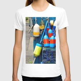 Buoys of Rock Harbor, Massachusetts T-shirt