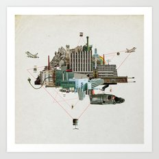 Collage City Mix 2 Art Print