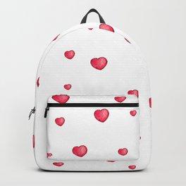 Heart Doodle Watercolor Backpack