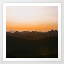 Sunset Mountains Art Print
