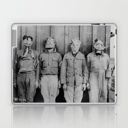 American, British, French, & German Gas Masks Laptop & iPad Skin