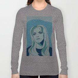 Blue Self Portrait Long Sleeve T-shirt