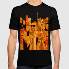 The Big Lebowski Black Mens Fitted Tee LARGE