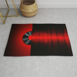 Vinyl sunset red Rug