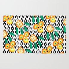 Citrus and Leaves II Rug