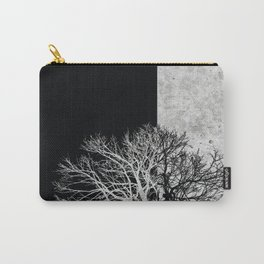 Natural Outlines - Tree Black & Concrete #295 Carry-All Pouch