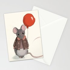 la souris au ballon Stationery Cards