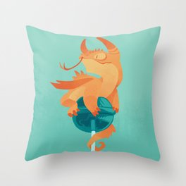 Dragonpop spiky citric blueberry Throw Pillow