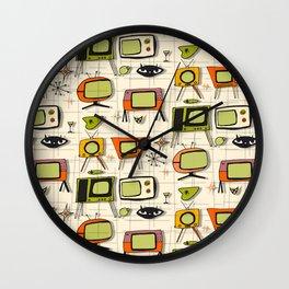 Retro TV Pearl Orange #spaceage Wall Clock