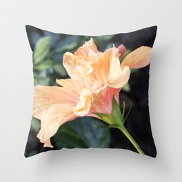 Jane Cowl Tropical Hibiscus Side Profile Throw Pillow