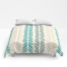 Herringbone bamboo leaves Comforters