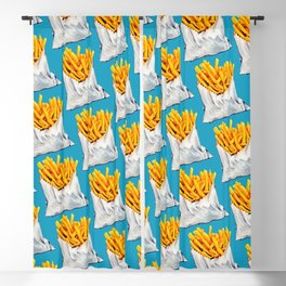 French Fries Pattern Blackout Curtain