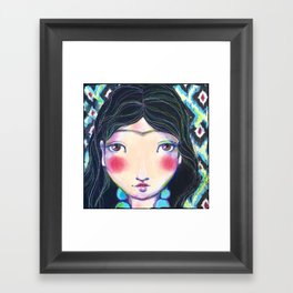 YOUNG FRIDA WITH NECKLACE Framed Art Print