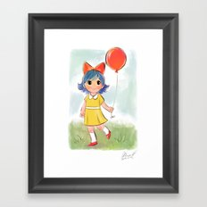 balloon makes a day Framed Art Print