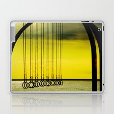 Beach Rings on Santa Monica Beach Laptop & iPad Skin
