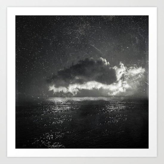 bright cloud - black sea Art Print
