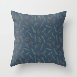 A Walk In The Pine Forest Pattern Throw Pillow