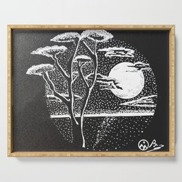 """Evening Portal"" Hand-Drawn by Dark Mountain  Arts Serving Tray"