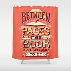 Between pages Shower Curtain