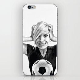 Crazy Female Soccer Fan iPhone Skin