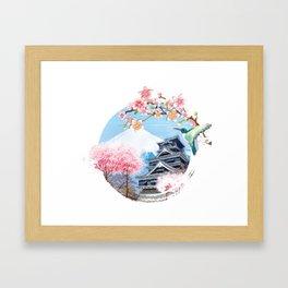 Japan national cherry blossom festival japanese Framed Art Print