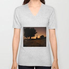 On a rock Unisex V-Neck