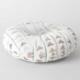 Triangles and vertical lines pattern Floor Pillow