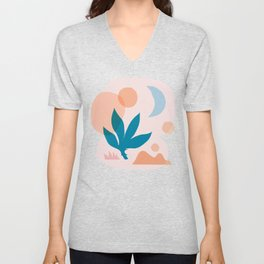 Abstraction_Nature_Companion_001 Unisex V-Neck