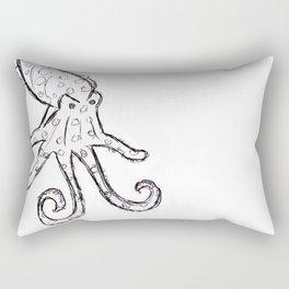 Octopus - Original Pen Ink Sketch Rectangular Pillow