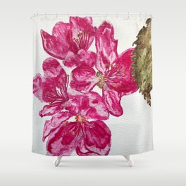Wild Pink Floral Watercolour Shower Curtain