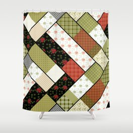 Folklore, patchwork 1 Shower Curtain