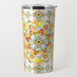 Flower Garden Mandala Travel Mug
