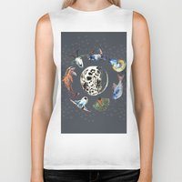 cosmic Biker Tanks featuring Cosmic by AnnaW
