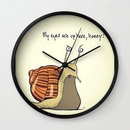 snail sauce Wall Clock