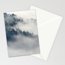 Mountain Fog and Forest Photo Stationery Cards