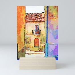 Borrello: alley and building Mini Art Print