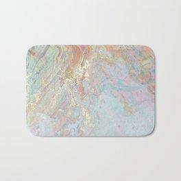 Pastel unicorn marble Bath Mat