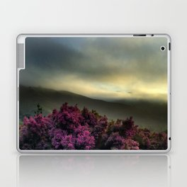 Pink Flowers with Fog Laptop & iPad Skin