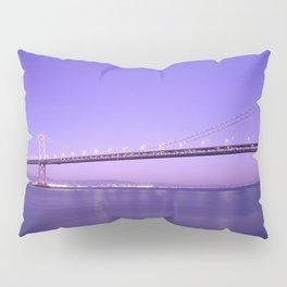 San Francisco - Oakland Bay Bridge at Night Pillow Sham