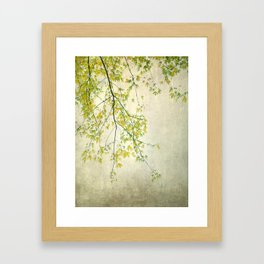 wake me up when september ends Framed Art Print