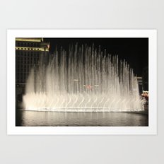 The Bellagio Fountains Art Print