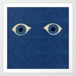 HOMEMADE BLUE EVIL EYE PATTERN Art Print