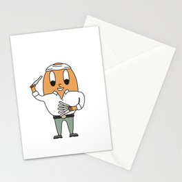Knife-Thrower Egg Stationery Cards