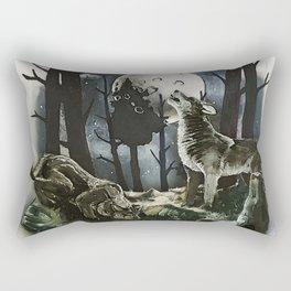 Howling at the Moon Rectangular Pillow