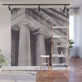 Black & white New York, Federal Hall, greek temple, Wall street, neoclassical architecture, fine art Wall Mural