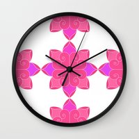 fifth harmony Wall Clocks featuring Harmony by Elisa Rosa