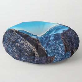 Moutain sky ice blue Floor Pillow