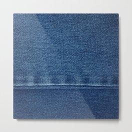 Blue Jean Texture V4 Metal Print
