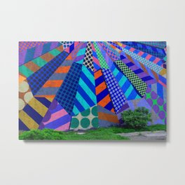 The Patterns on the Wall Metal Print