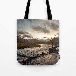 Broken Bridge Valley Dusk Tote Bag